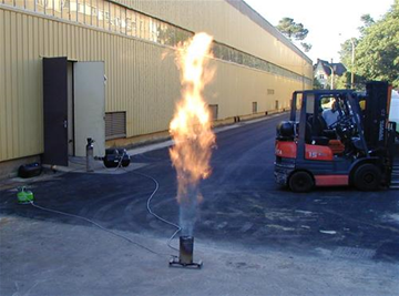 Purging the petroleum liquid gas  tanks by combustion with AEM's product