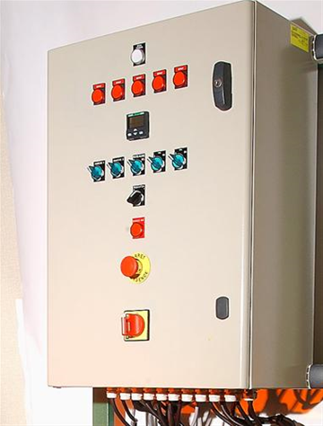Command box of 5 burners with temperature control